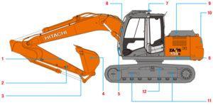 Hitachi Zaxis Zx 130k-3 130l-3 Excavator Workshop Service Manual